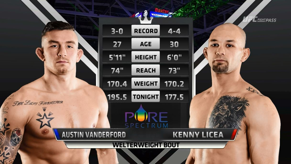 UFC® FIGHT PASS™ -Austin Vanderford vs Kenny Licea Victory FC 59